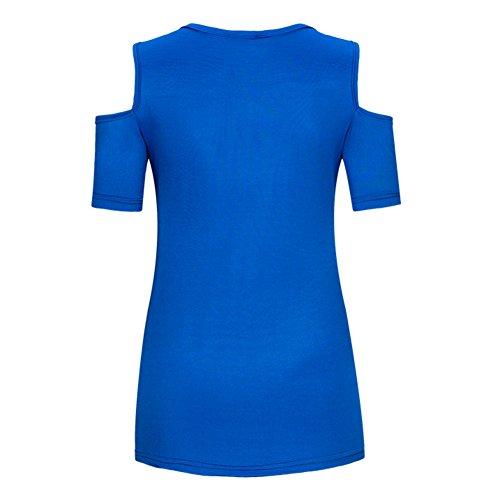 T Maglie Donna Junkai Shoulder Allentate Off 3 Camicia Manica Corta Estate shirt Top Sexy Camicie w7q7T