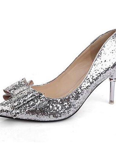 n oro confort tac ¨ ZQ pu vestito tacones rojo boda ® mujer noche argento stiletto 39 EU puntiagudos Scarpe di Fiesta xtqtwUY8
