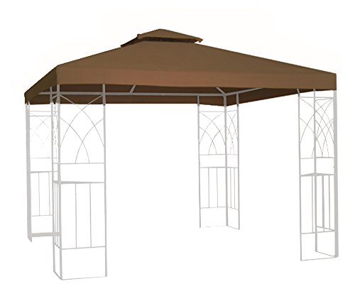 Kenley Wasserfest Pavillondach Ersatzdach Festzelt Gartenpavillon Dach - 3m x 3m - Beige