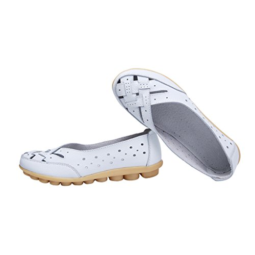 Caro Mocassino Slip On In Pelle Mocassino Da Donna Estate Mocassino Bianco