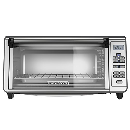 BLACK+DECKER TO3290XSD TO3290XSBD Toaster Oven, 8-Slice, Stainless Steel (Black & Decker Under Counter Toaster Oven)