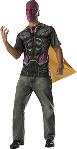 Rubie's Costume CO Men's Avengers 2 Age Of Ultron Adult Vision T-Shirt Cape and Mask, Multi, (Vision Avengers 2)
