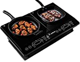 Induction Hob Aobosi Double Induction Hobs Electric Hobs Portable Electric Cooker 2 Zone Double Hobs Sensor Touch Control Ceramic Crystal Plate 2800W