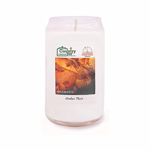 Country Jar Amber Noir Soy Candle, 14.5 oz. CAN-dle Jar, White, 85-100Bh (Burn Hours) END Summer Sale! 20% Off 2 More Items - No Limit - Entire Inventory