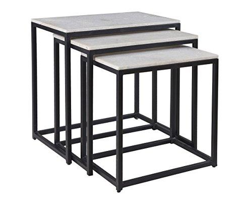 Coast to Coast Nesting Table - & Black (Nesting Square Tables Iron)