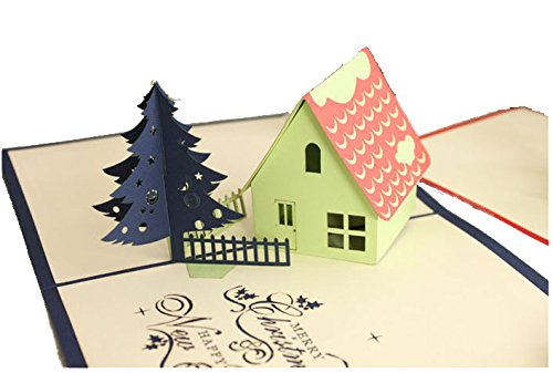 lovely-paper-card-3d-pop-up-folding-postcard-beautiful-house