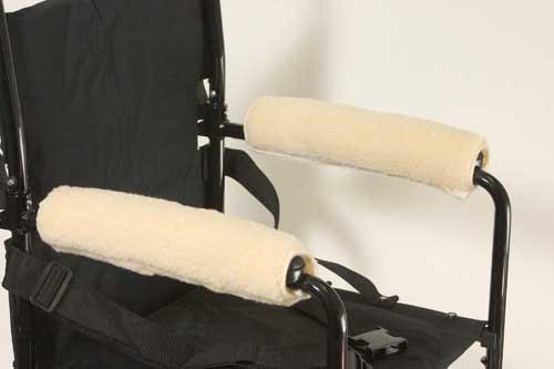 Wheelchair Armrests Fleece Pair for Full Arms 14 -15