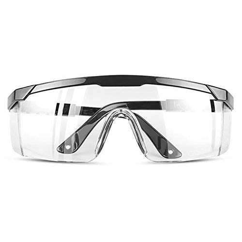 TOREGE Safety Glasses, Anti Fog Safety Goggles With Anti-Fog & HD Lens, Adjustable Temples Design Fit Most People, Protect Eyes In Outdoor Activities Or Working