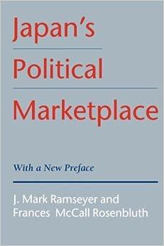 Japan's Political Marketplace by J. Mark Ramseyer (1997-03-25)