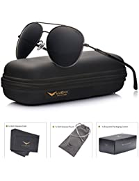 Aviator Sunglasses Womens Polarized Mirror with Case - UV...