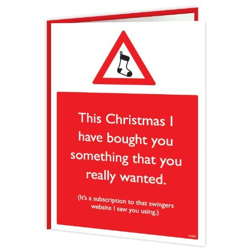 Brainbox Candy Funny Humorous 'Swingers Website' Christmas Xmas Card