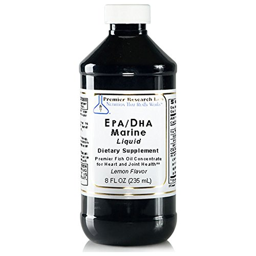 EPA/DHA Marine Liquid, 8 fl oz - Premier Fish Oil Concentrate without molecular distillation. Promotes Heart and Joint Health with a Refreshing Lemon Flavor by Premier Research Labs (Image #2)'
