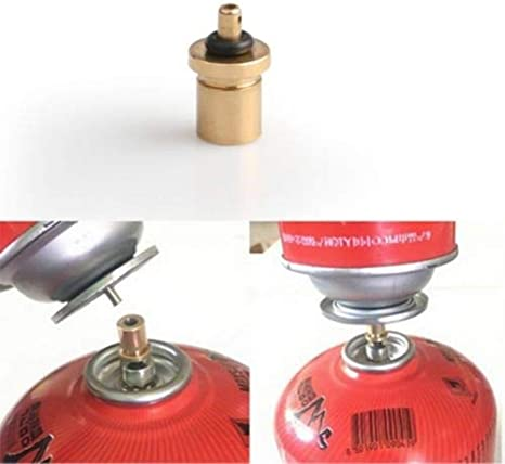 Cylinder Filling Butane Canister Gas Refill Adapter Copper^Outdoor Camping St  /'