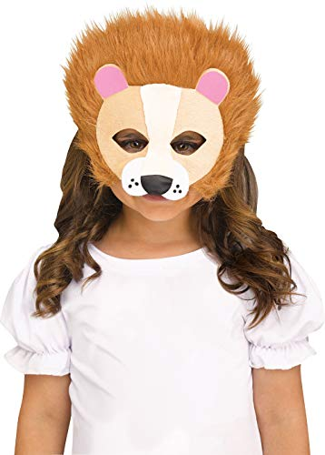 Fun World Lion Furry Friends Girls Child Half Mask Child One Size -