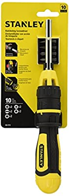 Stanley 68-010 Multibit Ratcheting Screwdriver with 10 Assorted Bits