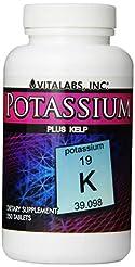 Vitalabs Potassium  Plus Kelp, 250 Table...