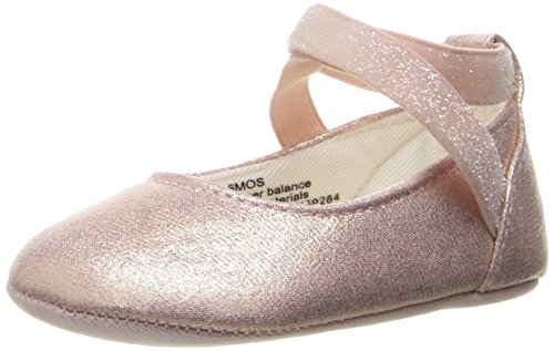 The Children's Place Girls' Nbg Ankle Strap Ballet Flat, Metallic, 6-12 Months M US Infant
