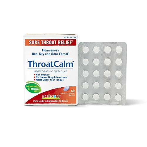 Boiron Throatcalm Tablets for