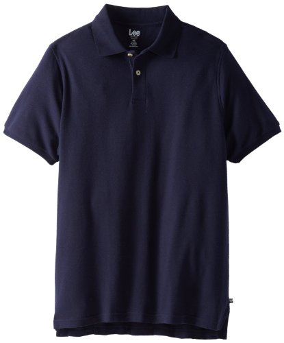 Lee Uniforms Modern Fit Short Sleeve Polo Shirt,Navy,3XL (Outlet Long Beach)