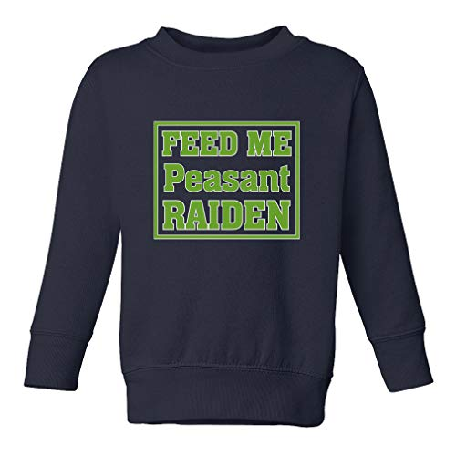 Feed Me Peasant Raiden Long Sleeve Taped Neck Toddler Boys-Girls Cotton/Polyester Cute Sweatshirt - Navy, 4T