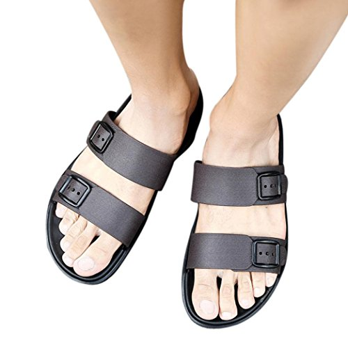 Unisex Flip Flops Flat Sandals, 2018 Hot Sale Summer Casual Vacation Beach Roman Shoes for Men Women Boys,Slipper Indoor Outdoor Shoes (Brown, US:8.5 =Foot Length:10.3