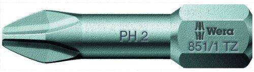 Wera Series 1 851/1 TZ Sheet Metal Bit, Phillips PH 1 Head x 1/4-Inch Drive (Pack of 10) 05056505001