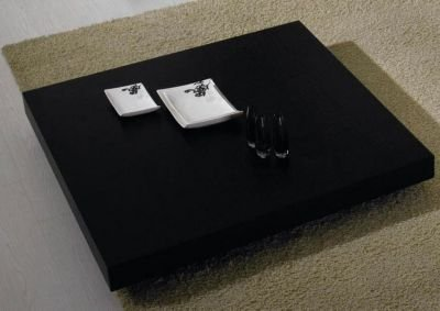 Modrest T35 Modern Black Oak Coffee Table Black/Black/Square - Shop Low Profile Coffee Table Designs: Low Coffee Tables