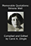 Memorable Quotations: Simone Weil (English Edition)