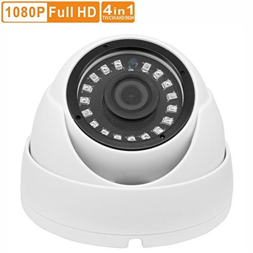 Inwerang HD 2MP TVI/AHD/CVI/960H CVBS 4-in-1 Dome Security Camera Outdoor/Indoor Wide Angle 3.6mm Lens, IP66 Waterproof Day/Night Vision 18 IR LEDs CCTV Security Camera