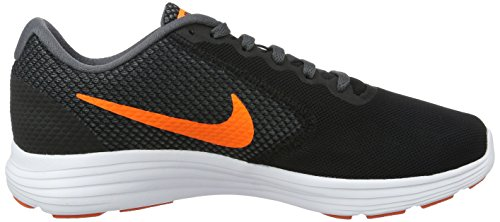 Nike Mænds Revolution 2 Løbesko Sort / Total Orange / Mørkegrå / Græstørv Appelsin kq9waHT