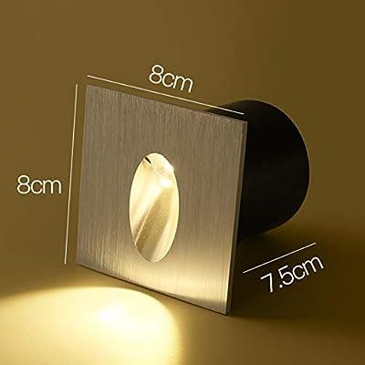 LXSEHN Aplique LED Empotrado Al Aire Libre Impermeable Patio Luces De Pie, Escalera Paso Luz De Paso, 2 Tamaños Iluminación Lámparas linternas (Color : Black, Size : A): Amazon.es: Hogar