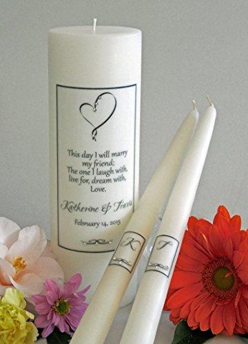 Ribbon Heart Wedding Unity Candles