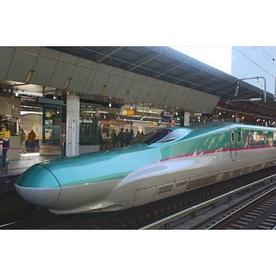 "Japanese Postcard ""E5 Shinkansen bullet train Shinkansen Hayabusa Hayate (no words on the photo)"
