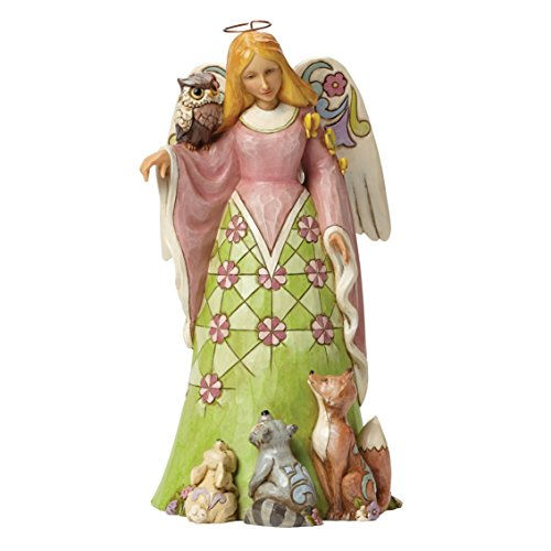 Department 56 Jim Shore Heartwood Creek Spring Woodland Angel Figurine, 9""