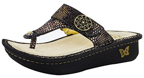 Alegria Women's Carina Bronze Mosaic Sandals 37 (US Women's 7-7.5)