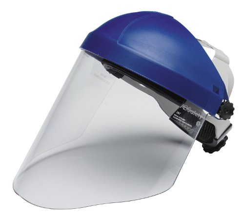 Clear Face Shield - 3M Ratchet Headgear H8A, Head and Face Protection 82783-00000, with 3M Clear Polycarbonate Faceshield WP96 (Pack of 1)