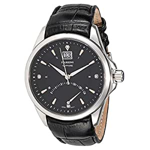 Starking Men's Black Dial Leather Band Watch - BM0855SL22