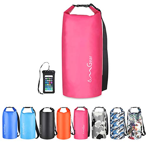 OMGear Waterproof Dry Bag Backpack Waterproof Phone Pouch 40L/30L/20L/10L/5L Floating