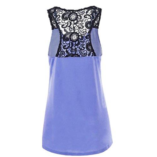 de espalda Mujeres Sin Elegante Chaleco Adeshop Encaje Patchwork moda Bot awS58F