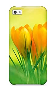 Protective Tpu Case With Fashion Design For Iphone 5c Flower