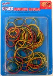 DDI - Rubber Bands 80 Pack (1 pack of 48 items)