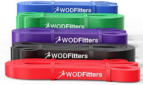 RED /& PURPLE Power 2 Pack of Assisted Pull Up Bands -Crossfit Resistance