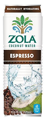 Zola Coconut Water with Espresso, 17.5 Ounce (Pack of 12) (Rising Sun Coconut Water)