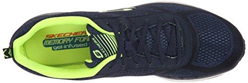 Skechers Sport Mens Skech Air Infinity Sneaker Navy / Lime