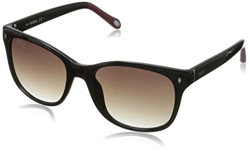 Fossil Women's FOS3006S Wayfarer Sunglasses,Black,55 - Sunglasses Womens Fossil