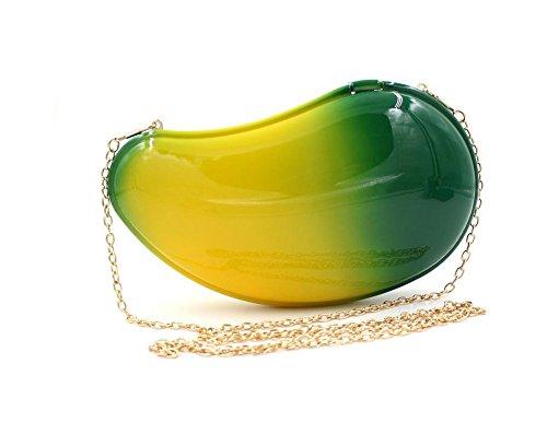 WYB Europa Mango Acryl Abendtasche / High-End-Farbverlauf Spray / Hand Gelee-Paket
