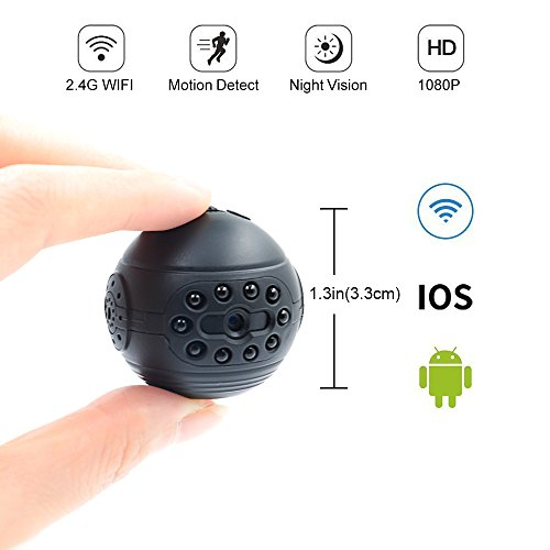Spy Hidden Camera LXMIMI 1080P HD Mini Wireless Camera P2P IP Hidden Camera Supports Remote View and Control Security Camera with Night Vision & Motion Detection for Home Surveillance