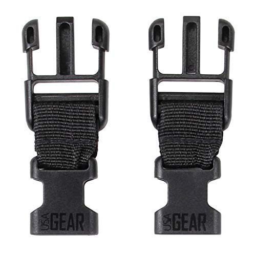 USA Gear TrueSHOT Media Strap to Camera Harness Strap Adapter - Large Male to Small Female (Set of Two)