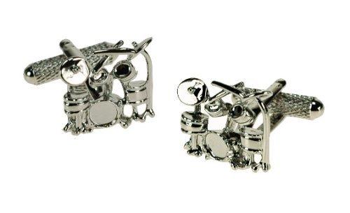 Designer Onyx Cufflinks - Premier Life Store Onyx Art Metallic Drum Sets Designer Cufflink's in a Gift Box - CK491