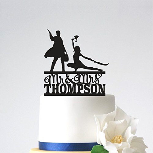Firefly Wedding Cake Topper,Names Firefly Cake Topper,Wedding Topper,Personalized topper with Name,Unique Cake Topper]()